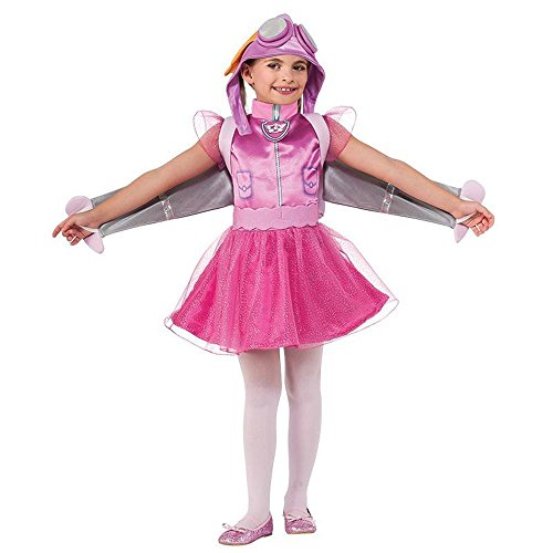 Paw Patrol Kinder Kostüm Hunde Pilotin Skye Karneval Gr.3 bis 4 (Paw Kostüme Patrol Halloween)