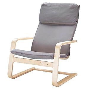 Custom Slipcover Der Pello Stuhlbezug aus Baumwolle ist speziell für IKEA Pello Stuhlbezug (Or Pello Sesselschonbezug) erhältlich Darkest Gray