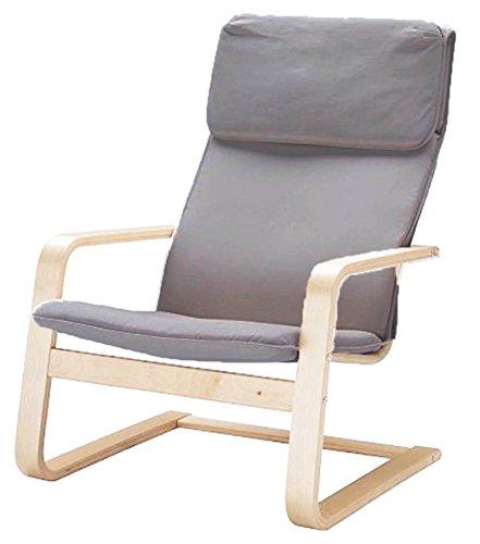 Custom Slipcover Replacement Der Pello Stuhl Baumwolle Abdeckungen Ersatz ist nach Maß für IKEA Pello Stuhl-Abdeckung Baumwolle Hellgrau