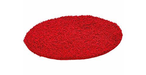 OBI Teppich rund Ø 67 cm Hochflor Rot
