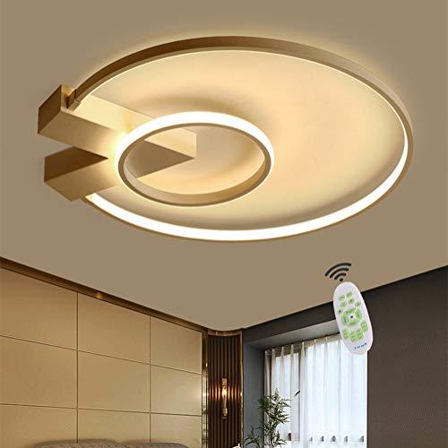 LED Deckenleuchte Dimmbar Wohnzimmerlampe mit Fernbedienung Deckenlampe, 38W Modern Decke Rund Acryl Lampenschirm Design Lampen für Schlafzimmerlampe Esszimmerlampe Bürolampe Küchelampe Ø50CM Weiß