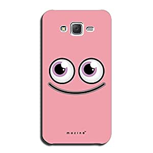 Mozine Smiling Pink Bug printed mobile back cover for Samsung galaxy on5