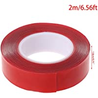 Zohong - Cinta adhesiva de doble cara de 2 m, gel acrílico de alta resistencia, transparente