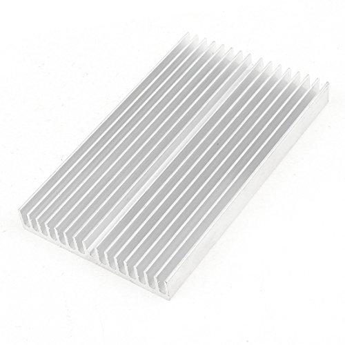 Argent Ton Aluminium Refroidisseur Radiateur Dissipateur De Chaleur Dissipateur De Chaleur 100x60x10mm