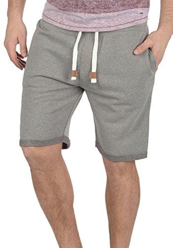 INDICODE Rion Herren Sweat-Shorts kurze Hose Sport-Shorts aus hochwertiger Baumwollmischung Grey Mix