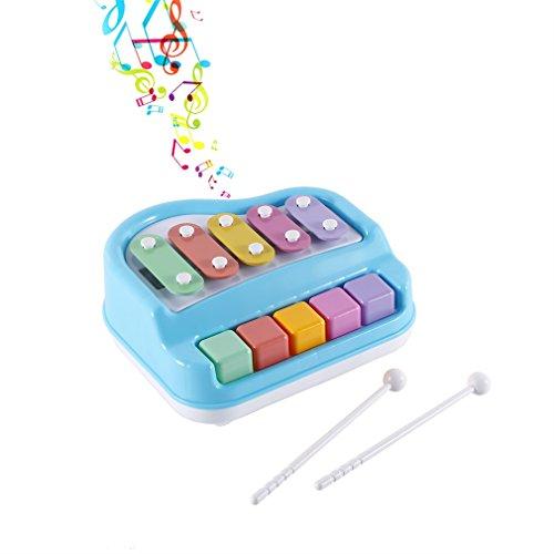 LESHP Juego Interesante (Azul) Instrumentos Musicales,Juguete de Piano,Piano de Ninos,Instrumentos Juguete para Niño,Piano de Animal,Juguetes para Niños