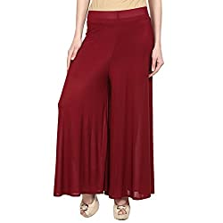 stretchable Designer Plain Casual Wear Palazzo Pant For Womens