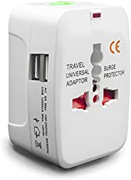 all In One Universal International Travel Charger Power aC adapter for US UK EU Multi Socket Outlet Plugs with