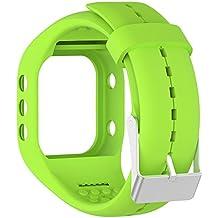 Silicona reloj banda correa de repuesto Flexible longitud ajustable pulsera Fitness para Polar A300reloj inteligente, verde