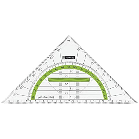 Baier & Schneider - Triángulo transportador de ángulos (codificado por colores)