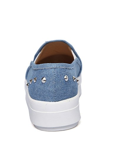 ZQ gyht Scarpe Donna - Mocassini - Casual - Creepers - Plateau - Denim - Nero / Blu , dark blue-us8 / eu39 / uk6 / cn39 , dark blue-us8 / eu39 / uk6 / cn39 black-us5.5 / eu36 / uk3.5 / cn35