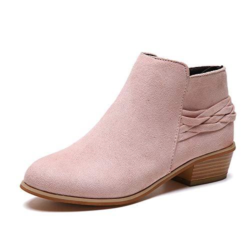 Stiefel Damen Mode Ankle Boots Stiefel Solid Gestrickte Flock Schuhe Kurze Stiefeletten Bootie Freizeitschuhe Langschaftfstiefel Winterstiefel Pump Stiefel ABsoar