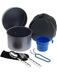 Laken - Juego de cocina de camping antiadherente, de aluminio, 1.25 L c/la tazza e posate