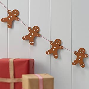 Christmas Gingerbread Man Wooden String Garland By Ginger Ray