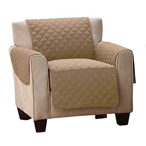 Sslboo copridivano trapuntato impermeabile per cani animali bambini divano antiscivolo copriscarpe reclinabile poltroncina per mobili 1/2/3 sedile-crema, 2 posti