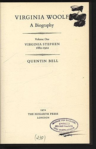 Virginia Woolf A Biography Volume One 1882-1912