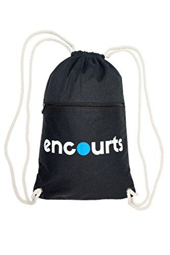 9b23935153 encourts Uomo e Donna Gym Bag con zip e tasca interna Zaino Sacca Hipster  Sport Jogging Canvas Cotone Sport tasche nero