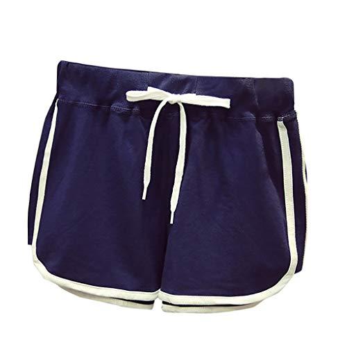 Dasongff Damen Hosen Shorts Sommer Hotpants, Strand Laufgymnastik Yoga der Sporthosen Schlafanzughosen, Beach Bohe Badehosen Trunks, Comfort Fit Lockere Leichte Sommerhose (Floral Trunk)