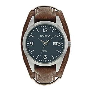Kahuna KUC-0061G – Reloj para Hombre, Esfera Azul, Correa marrón, Color Azul