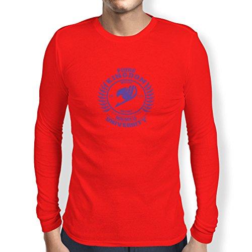 TEXLAB - Fiore Kingdom - Herren Langarm T-Shirt, Größe XXL, rot