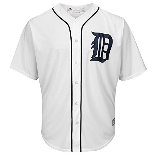 Majestic Athletic MLB Detroit Tigers Cool Base Home Jersey Small