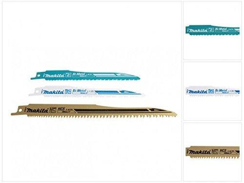 Makita 3er Pack Sägeblätter für Reciprosäge Säbelsäge JR 3050 3060 3070 BJR 181 182