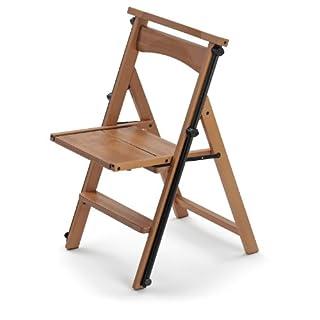 Arredamenti Italia AR_IT- 175 ELETTA the ladder chair, finishing cherry wood.
