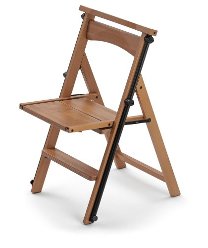 "Arredamenti Italia Stuhl/Leiter ELETTA, Holz - Verwandelbar - 4 Stufen -Farbe: Kirsche holz  ""Ar-It il cuore del legno"" Test"
