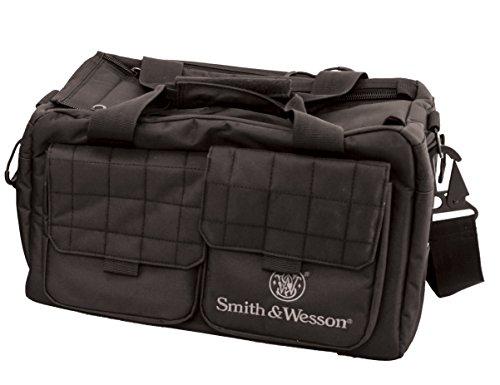 Smith & Wesson Gear Recruit Tactical Range Tasche mit wetterbeständigem Material für Gun Pistole Shooting Munition Zubehör und Jagd (Range Bag Tactical)