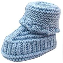 48eeb99ca5b4 Bébé Bottes Tricot Socquette,Covermason Newborn Baby Lovely Chaussures en  Crochet en Tricot Chaussures à