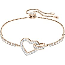 Swarovski Lovely Bracelet, White, Rose Gold Plating