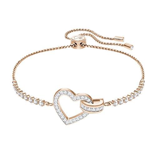 Swarovski Lovely Armband, Weiss, rosé Vergoldung