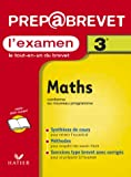 Prépabrevet, l'examen : Maths, 3e