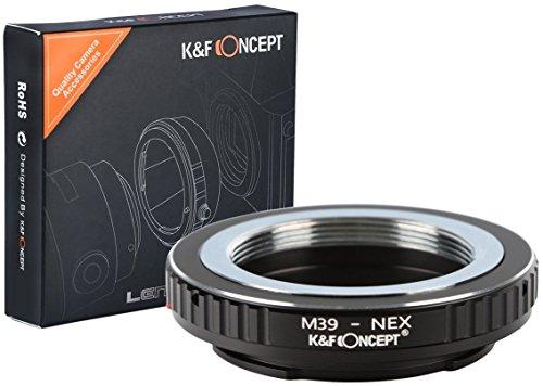 K&F Concept Leica 39 L39 Objektivadapter kompatibel mit Sony NEX Alpha E-Mount Adapter | Adapterring Kamera Ring Objektiv M39 L39-NEX L M - Contax Leica M