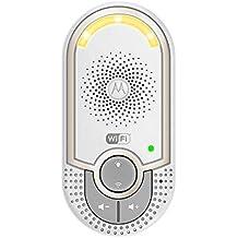Motorola MBP162 - Vigilabebés audio plug-n-go con modo eco y luz nocturna, color blanco