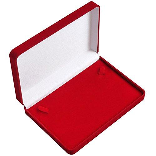 EYS JEWELRY® étui à bijoux pour collier 160 x 160 x 37 mm velours rouge boîte à collier écrin emballage cadeau