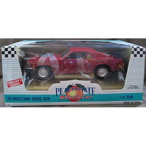 #7027 Ertl Peach State Muscle Car '70 Mustang Boss 429,Red 1/18 Scale Diecast by (70 Boss 429 Mustang)