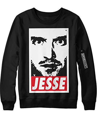Sweatshirt Breaking Bad Series Jesse Pinkman Walter White Crystal Meth Hype C980018 Schwarz (Kinder Breaking Kostüme Bad)
