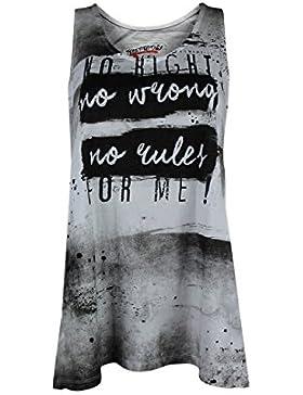 trueprodigy Casual Mujer marca Camiseta De Tirantes estampado ropa retro vintage rock vestir moda cuello redondo...