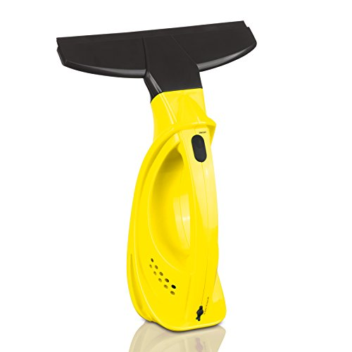 CLEANmaxx 02214 Fensterreiniger Easy Plus | Badezimmer- und Küchenfliesen, Herdoberflächen, Spiegel, U.V.M | Schlierenfrei | keine Tropfen | Batteriebetrieben | Gelb