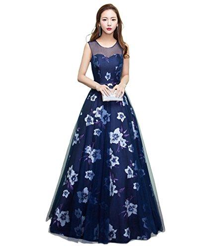 LuckyShe Damen Trägerlos Weiß Burgund Hochzeitskleid Brautkleid Blau
