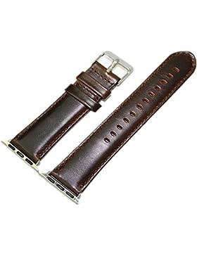 22mm Apple Uhrenarmband iWatch Armband 38mm Crazy Pferd Leder Dunkelbraun Uhrenarmband Armband Damen Stahl Uhr...