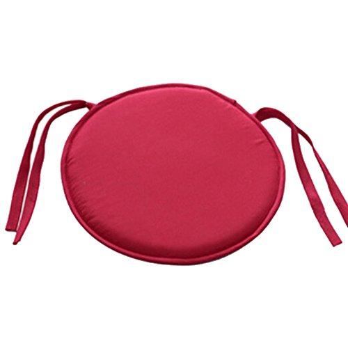 Cuscini per sedie, comoda morbida rotonda sedia da giardino, imbottitura cuscino, con la cravatta per cucina da pranzo, 30x 30cm taglia libera bright red