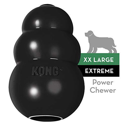 KONG - Extreme Gioco cani - Gomma naturale ultra resistente nero - Masticare e riportare - XXL