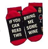 Lavley Uomo se riesci a leggere questo bring me socks - birra, bacon, taco, tè - calzini divertenti per il regalo della novità - e donne taglia unica vino
