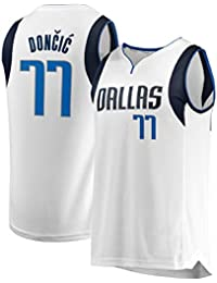 BJerspo Bordada Mavericks de Doncic #77 Fan Jersey de Hombre Adulto (Blanco, XL