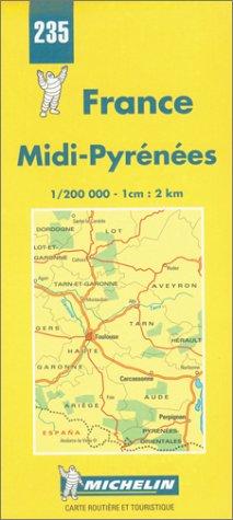 Carte routière : Midi - Pyrénées, N° 235