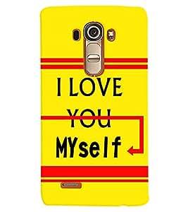 printtech Myself Back Case Cover for LG G4::LG G4 H815