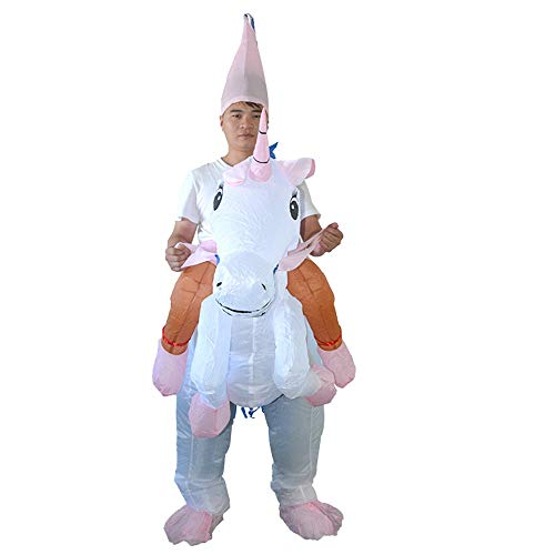 Bangxiu-festival Kinder Erwachsene Aufblasbare Einhorn Prinzessin Halloween Kostüm Blow Up Party Cosplay Kostüm (Farbe : Adult, Größe : - Einhorn Blow Up Kostüm