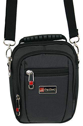 Gerade Durch Crossover (Kleine Umhängetasche für Männer Schultertasche Herren Tasche schwarz crossover Bag auch als Gürteltasche tragbar (2361))